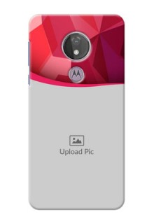 Moto G7 Power custom mobile back covers: Red Abstract Design