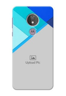 Moto G7 Power Phone Cases Online: Blue Abstract Cover Design