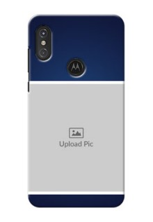 Motorola One Power Mobile Cases: Simple Royal Blue Design