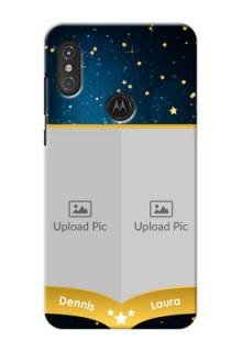 Motorola One Power Mobile Covers Online: Galaxy Stars Backdrop Design