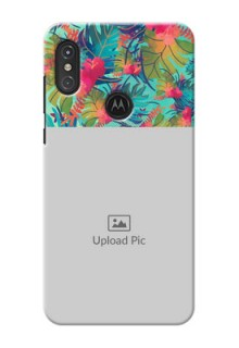 Motorola One Power Personalized Phone Cases: Watercolor Floral Design