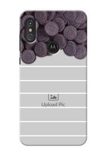 Motorola One Power Custom Mobile Covers with Oreo Biscuit Design