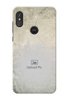 Motorola One Power custom mobile back covers with vintage design