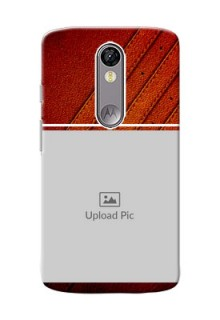 Motorola Moto X Force Leather Design Picture Upload Mobile Case Design