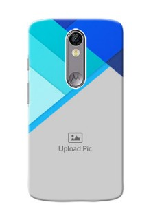Motorola Moto X Force Blue Abstract Mobile Cover Design