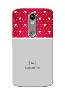 Motorola Moto X Force Beautiful Hearts Mobile Case Design