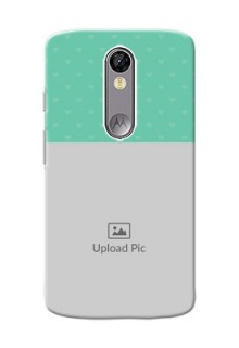 Motorola Moto X Force Lovers Picture Upload Mobile Cover Design