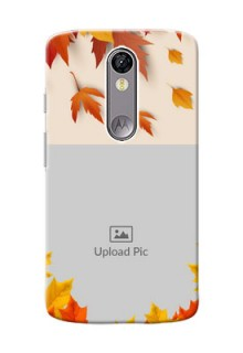Motorola Moto X Force autumn maple leaves backdrop Design