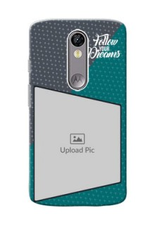 Motorola Moto X Force 2 colour background with different patterns and dreams quote Design
