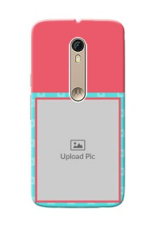 Motorola Moto X Style Pink And Blue Pattern Mobile Case Design