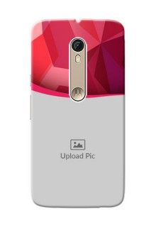 Motorola Moto X Style Red Abstract Mobile Case Design