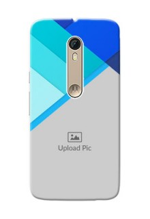 Motorola Moto X Style Blue Abstract Mobile Cover Design