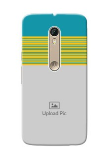 Motorola Moto X Style Yellow And Blue Pattern Mobile Case Design