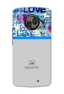 Motorola Moto X4 Colourful Love Patterns Mobile Case Design