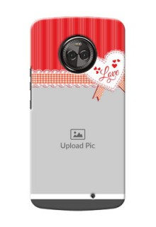 Motorola Moto X4 Red Pattern Mobile Cover Design