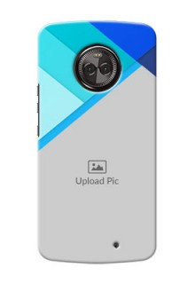 Motorola Moto X4 Blue Abstract Mobile Cover Design