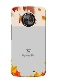 Motorola Moto X4 autumn maple leaves backdrop Design