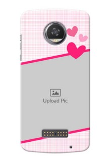 Motorola Moto Z2 Play Pink Design With Pattern Mobile Cover Design