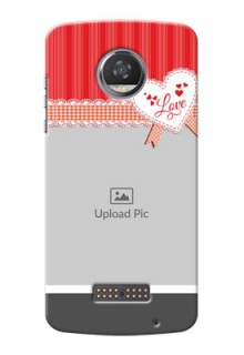 Motorola Moto Z2 Play Red Pattern Mobile Cover Design