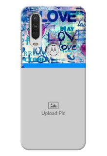 Motorola One Action Mobile Covers Online: Colorful Love Design