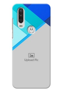 Motorola One Action Phone Cases Online: Blue Abstract Cover Design
