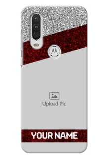 Motorola One Action Mobile Cases: Image Holder with Glitter Strip Design