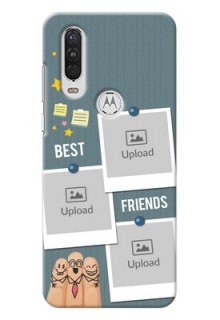 Motorola One Action Mobile Cases: Sticky Frames and Friendship Design