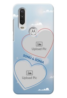 Motorola One Action Phone Cases: Blue Color Couple Design