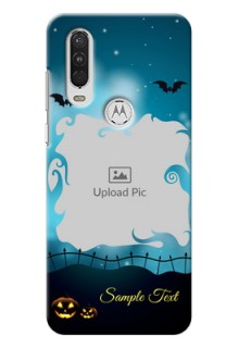 Motorola One Action Personalised Phone Cases: Halloween frame design