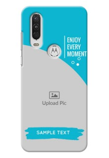 Motorola One Action Personalized Phone Covers: Happy Moment Design