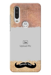 Motorola One Action Mobile Back Covers Online with Texture Design