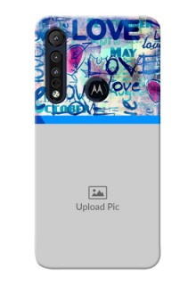 Motorola One Macro Mobile Covers Online: Colorful Love Design