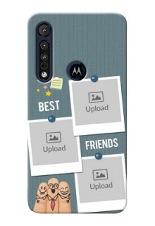Motorola One Macro Mobile Cases: Sticky Frames and Friendship Design
