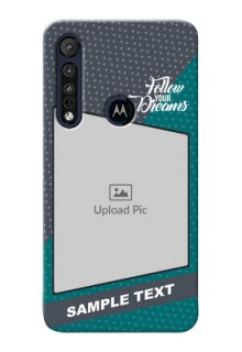 Motorola One Macro Back Covers: Background Pattern Design with Quote