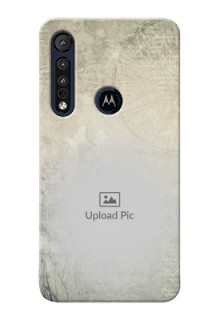 Motorola One Macro custom mobile back covers with vintage design