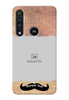 Motorola One Macro Mobile Back Covers Online with Texture Design