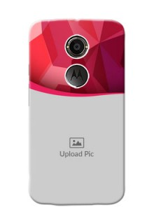 Motorola X2 Red Abstract Mobile Case Design