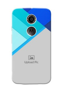 Motorola X2 Blue Abstract Mobile Cover Design
