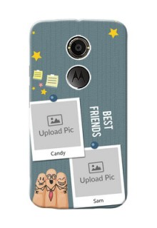 Motorola X2 3 image holder with sticky frames and friendship day wishes Design