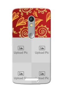 Motorola X3 4 image holder with mandala traditional background Design