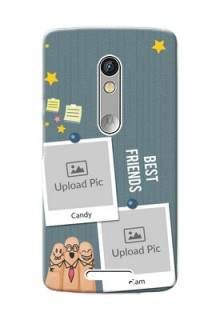 Motorola X3 3 image holder with sticky frames and friendship day wishes Design