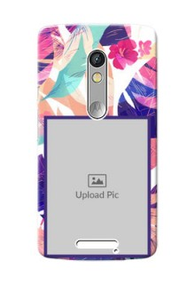 Motorola X3 abstract floral Design