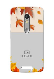 Motorola X3 autumn maple leaves backdrop Design