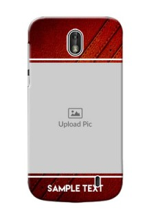 Nokia 1 Leather Design Picture Upload Mobile Case Design