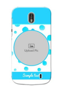 Nokia 1 Blue Bubbles Pattern Mobile Cover Design