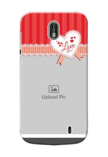 Nokia 1 Red Pattern Mobile Cover Design