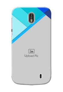 Nokia 1 Blue Abstract Mobile Cover Design