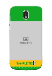 Nokia 1 Green And Yellow Pattern Mobile Cover Design
