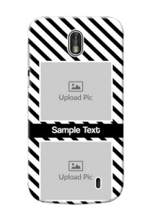 Nokia 1 2 image holder with black and white stripes Design