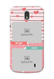 Nokia 1 2 image holder with hearts Design